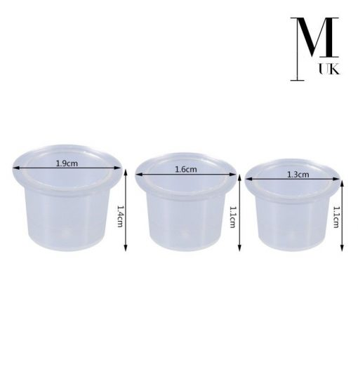 Ink Cups / Pots - Tattoo Microblading SPMU - Clear Plastic Pigment Holder
