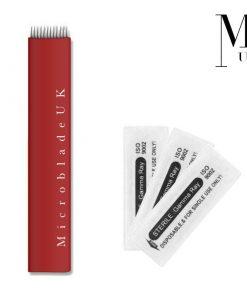 Microblades - Premium Blades for SPMU Microblading Needles Flat Shader 12F