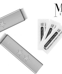 Microblades Microblading Needles Brows On Fleek Stainless Steel F Flat