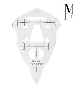 Microblading Ruler Full Face - Extendable SPMU Eyes and Lips, Eyebrow measuring