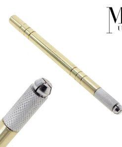 Microblading Tool - Eyebrow SPMU - Manual Microblade Tattoo Pen Gold Heavyweight