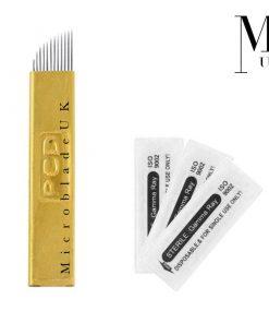 Microblades - Premium Blades for SPMU Microblading Needles PCD Brass Pack Of 50