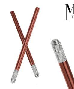 Microblading Pen - SPMU Tool - Manual Needle Microblade Holder - Chocolate Brown