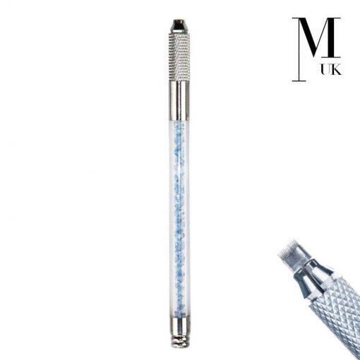 Microblade Holder - SPMU Tool - Manual Needle Microblading Pen - Crystal Colour