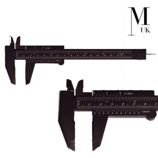 Microblading Ruler Gauge Extendable SPMU Calipers Eyebrow Measuring Black/White