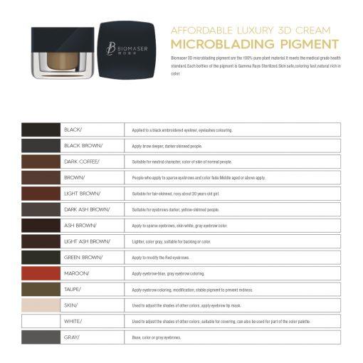 microblading pigment shades