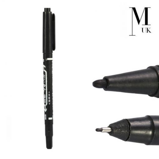 Microblading Skin Marker Pen Double Ended - SPMU Permanent Makeup Outliner