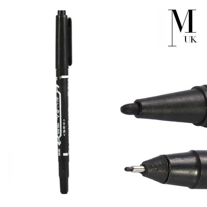 Microblading Skin Marker Pen Double Ended - SPMU Permanent Makeup Outliner