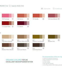 Doreme Organic Colour Chart