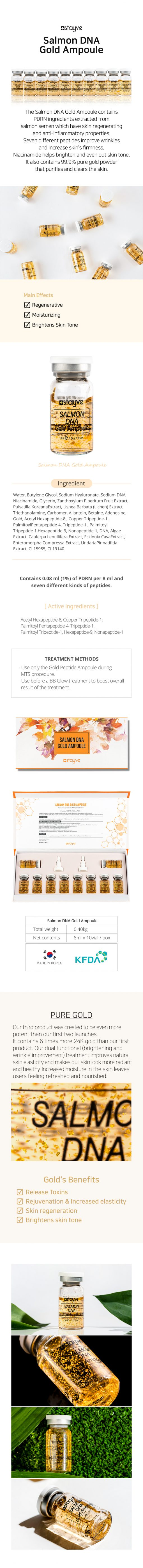Stayve Salmon DNA Gold Peptide Ampoule